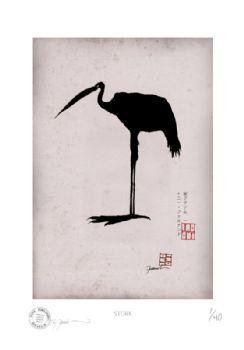 Antique Stork by Tony Fernandes